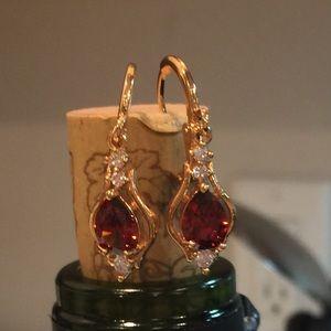 18K Gold Ruby Earrings